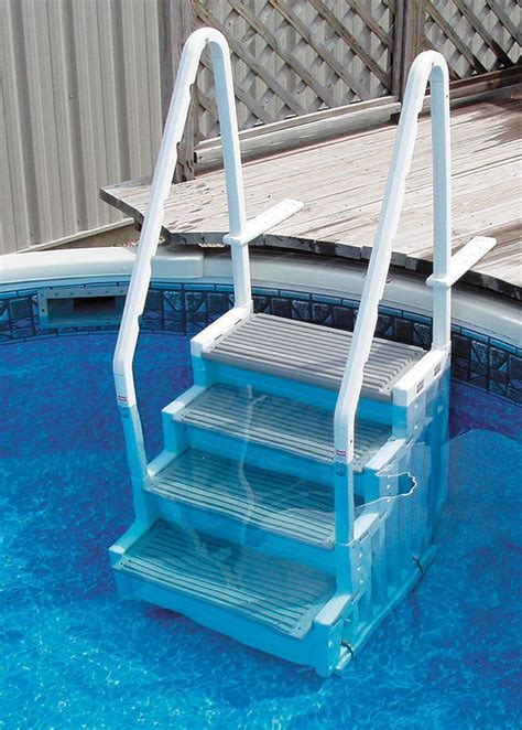 top rated above ground pool ladders for heavy people on