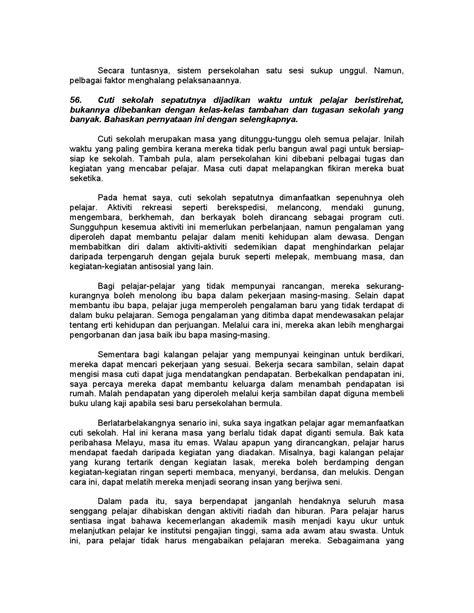 format karangan artikel format artikel bahasa melayu 100 karangan contoh pmr dan
