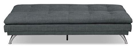 the brick futons june linen look fabric futon charcoal the brick
