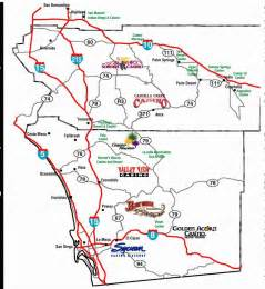 the southern california gaming guide p18 map area casinos