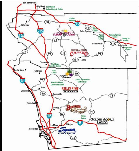casinos southern california map the southern california gaming guide p18 map area casinos