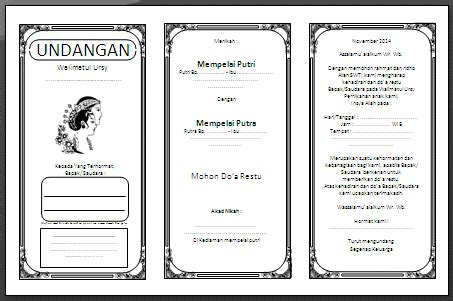 template undangan pernikahan ms word download undangan pernikahan format microsoft word joy