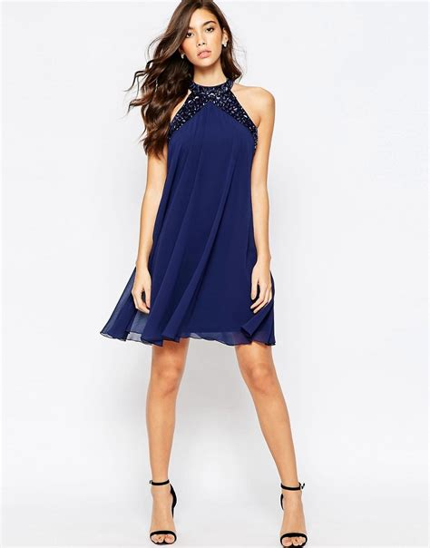 swing dress with high neck lipsy lipsy embellished high neck babydoll swing dress