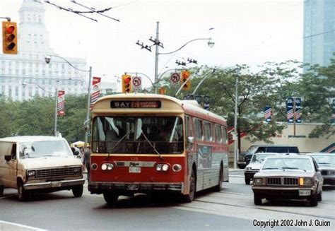 toronto trolleys and buses on flyer e700 trolley coach on bay ttc toronto trolleys