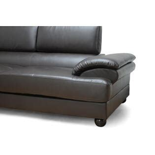 Leather Sofas Adelaide Baxton Studio Adelaide Brown Leather Modern Sectional Sofa Left Facing Chaise Home