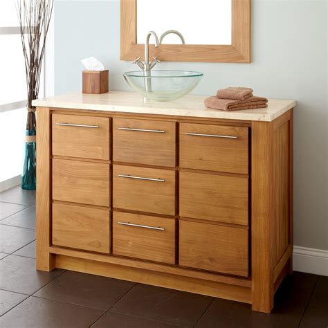 Bathroom Vanities With Vessel Sinks 48 Quot Venica Teak Vessel Sink Vanity Teak Teak Vanities Bathroom Vanities Bathroom