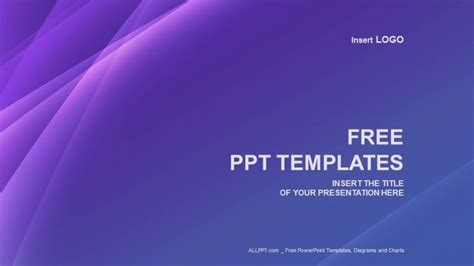 free of powerpoint templates purple line abstract ppt templates