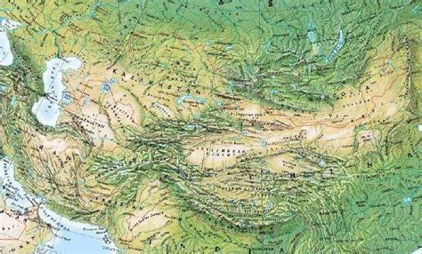 central and east asia physical map central asia physical mapsof net