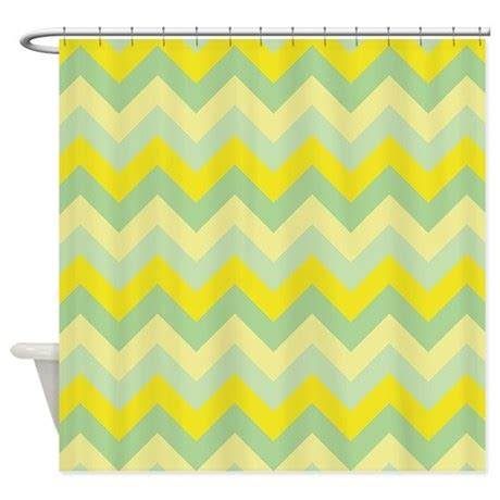 bright yellow shower curtain bright yellow and green zigzag shower curtain by