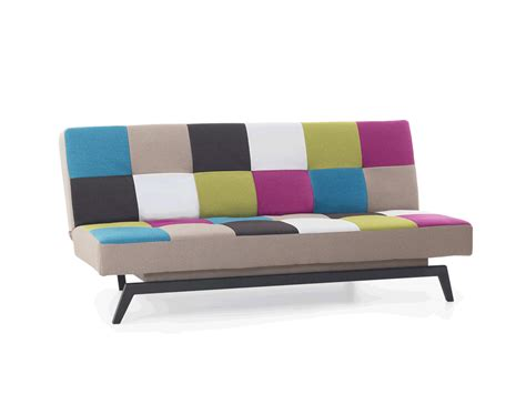 patchwork color sofa bed recliner 3 seater sleeping - Futon Schlafsofa 140x200