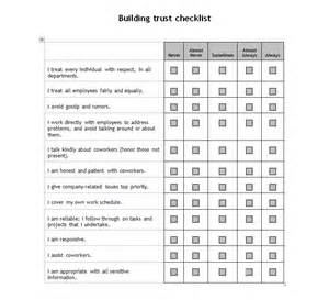 building trust checklist trust building checklist