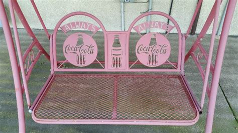 coca cola swing metal quot always quot coca cola metal outdoor swing lifelong