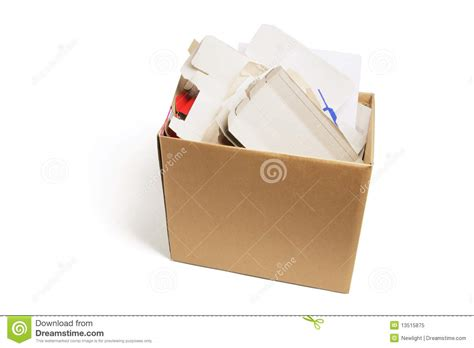 How To Make Waste Paper Products - waste paper products in carboard box royalty free stock