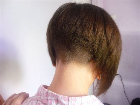 short stacked bob haircut shaved 7 best images about hair on pinterest the 70s bobs and