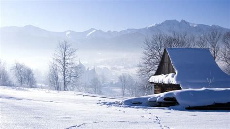 imagenes invierno para fondo pantalla casa invierno paisaje nieve fondos de pantalla hd