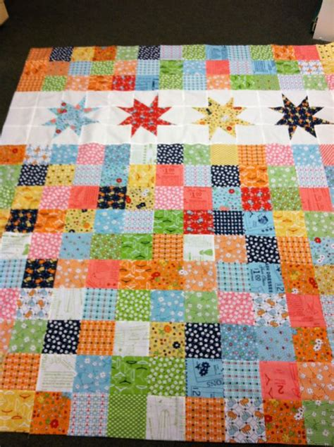 Missouri Patchwork - missouri wonky charm quilt using lori holt