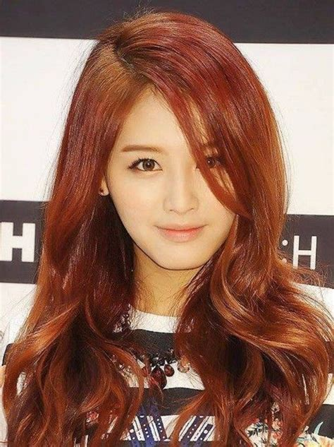 popular kpop hair colours jaekyung korean celebrity brown reddish hair style hair