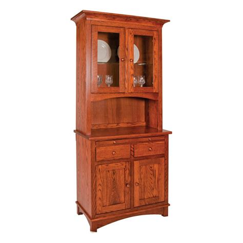 Entry Hutch Furniture Collection 2 Door Hutch Amish Crafted Furniture