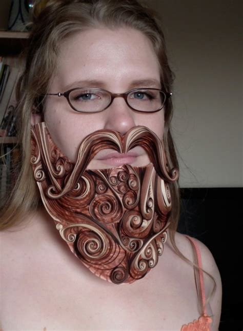 How To Make A Paper Beard - quilled beard neatorama