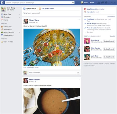 new photo layout on facebook back to the basics newest facebook layout quietly kills