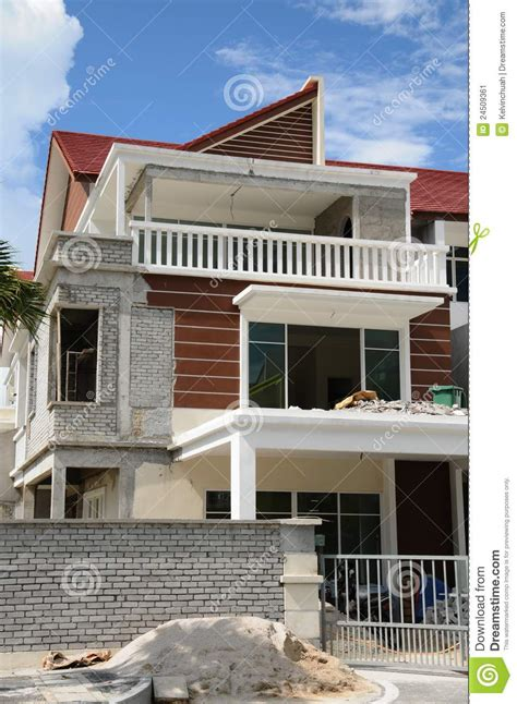 building house with side views building house with side views new construction side view stock image image 24509361