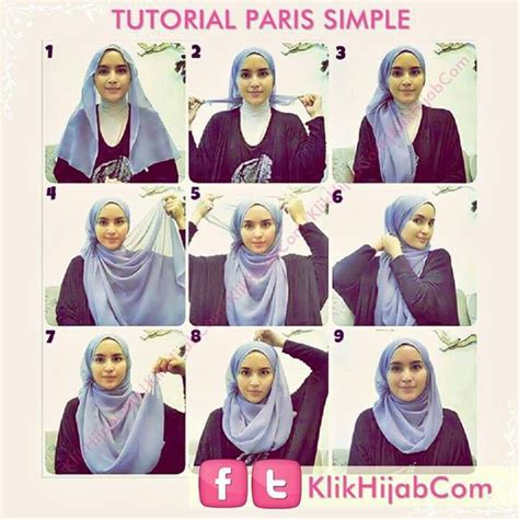 tutorial hijab simple sehari2 128 besten how to wear hijab bilder auf pinterest hijab