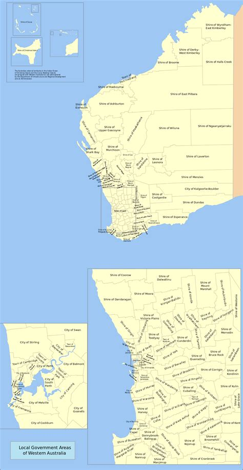 map of western australia local government areas of western australia