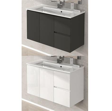 arredi da bagno arredo da bagno omega cm 100 lavabo ceramica bianco lucido