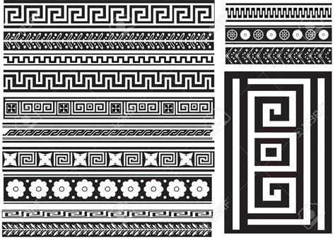 types of pattern in art greek key and others different types of seamless greek