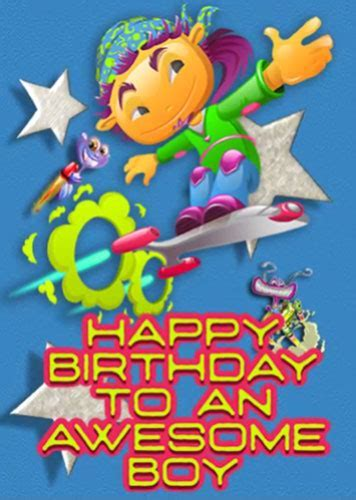 Happy Birthday To Awesome Boy Aliens Free For Kids eCards