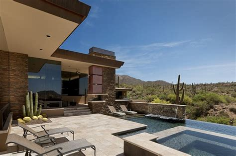 modern desert home design desert house in arizona has roomy interiors and stunning