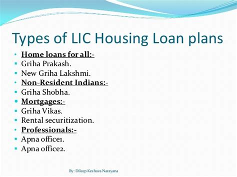 housing loan from lic lic home loan products overview