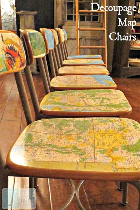 Decoupage Furniture Diy - travel and map projects for your home packing list