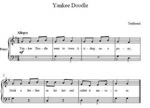 Yankee doodle easy piano sheet music yankee doodle easy piano score