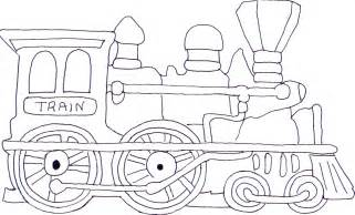 free coloring pages shape train