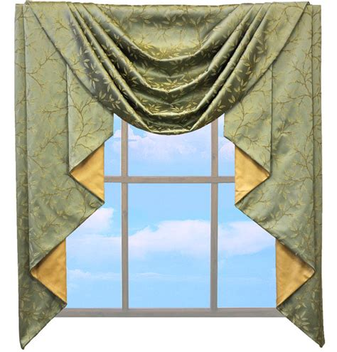 swag jabot curtains custom classic jabot valance swag your fabric