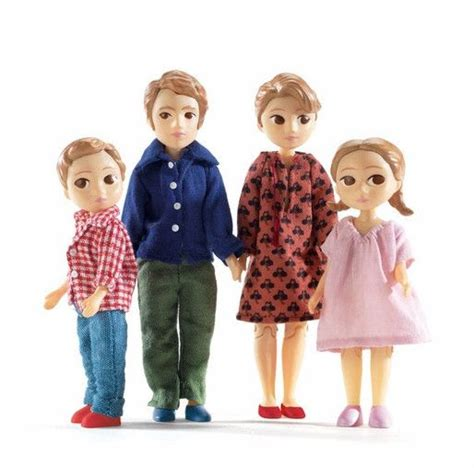 dolls house families djeco petit home modern doll house people thomas and marion family the modern