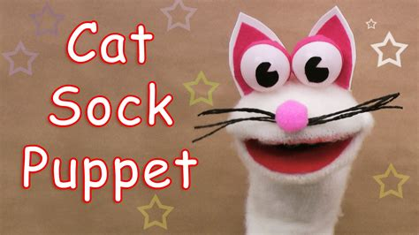 cat sock puppet how to make a cat sock puppet diy crafts