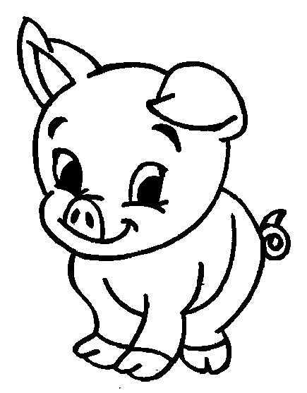 free coloring pages of pig drawing