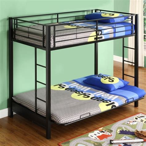 Metal Frame Futon Bunk Bed by Walker Edison Sunset Metal Futon Bunk Bed Frame