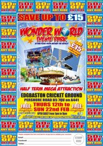 theme park vouchers 2015 offers wonder world theme park