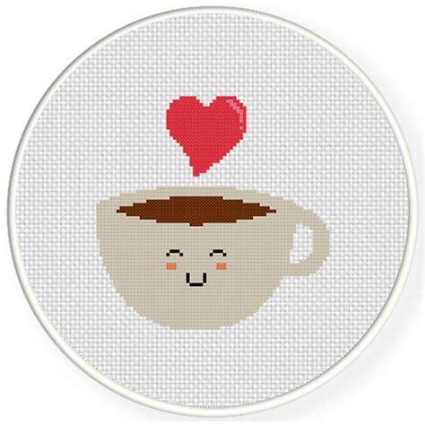 Decorative Stitch Charts Club Members Only Kawaii Coffee Cross Stitch