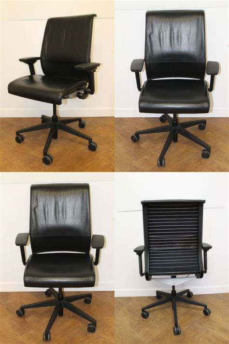 used swivel chairs office clearance wiltshire used steelcase think black