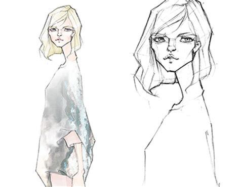 fashion illustration milan zejak zejak tunic sketch on behance