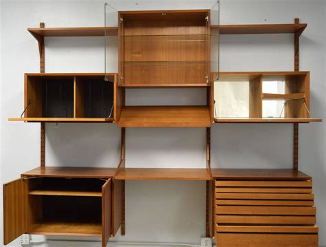 adjustable wall shelving mid century modern adjustable wall shelving unit for sale at 1stdibs