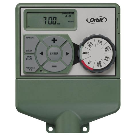 orbit 6 station easy sprinkler timer 57876 the home