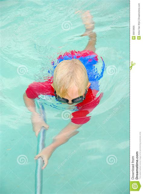 Get Ready In The Pool by Boy Cleaning Swimming Pool Stock Image Image Of