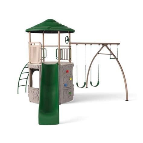 lifetime swings lifetime adventure tower swing set earthtone 90440
