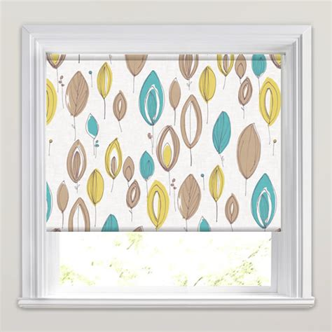 mustard patterned roller blinds teal mustard brown contemporary floral patterned roller
