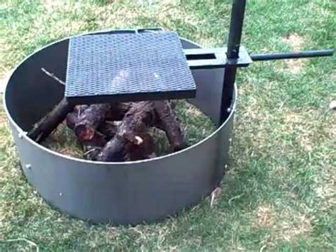 36 quot firepit with adjustable commercial cooking grill